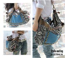 womens boho shoulder bag handbag au new