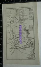 1778 Taylor and Skinner Strip Map Ireland- Road from Dublin to Strangford