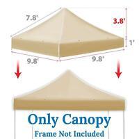 Ez pop Up Instant Canopy 10'X10' Replacement Top Gazebo EZ Canopy Cover Patio