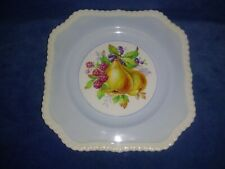 OLD ENGLISH Square Decorator Plate Blue w/Fruit By Johnson Bros. Made In England