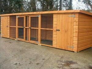 Double Dog Kennel And Run (Also for cats, rabbits and guinea pigs).