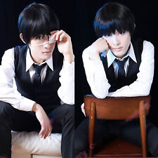Tokyo Ghoul Cosplay Kaneki Ken synthetic short wigs straight Anime cosplay wig