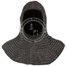 Chainmail Coif Knight Chain Mail Hood Medieval Chain-Mail Clothing Armor Costume