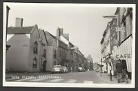 Postcard Atherstone near Nuneaton vintage view of Long Street RP