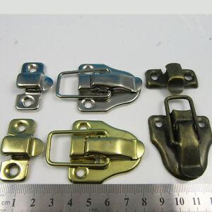 2 x  ANTIQUE BRASS,GOLD OR SILVER TOGGLE LATCH 60 x 40mm  CATCH CASE BOX CLOSE