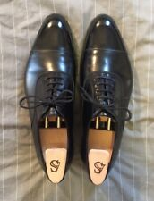 Alfred Sargent Black Captoe Oxfords with Lasted Shoe Trees, Size UK 11 (US 12)
