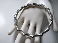 Vintage Handmade Twisted Metal Bangle Bracelet Rare 7.5