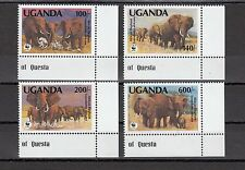TIMBRE STAMP  4  OUGANDA  Y&T#774-77 ELEPHANT ELEFANT NEUF**/MNH-MINT 1991 ~A58