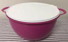 Tupperware Classic Large Thatsa Bowl 42 Cups Pink w/ White Seal New