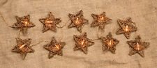 Primitive Country Twig GRAPEVINE STAR with WHITE LIGHTS Electric Garland Swag