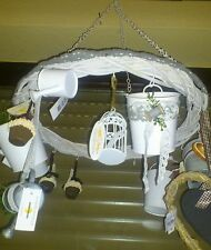 NEW Herbal Crown korbkranz krone17 Hook speckkrone Country Style White Decor