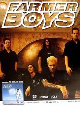 "FARMER BOYS TOUR POSTER / KONZERTPLAKAT ""THE WORLD IS OURS TOUR"""