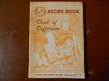 """RECIPE BOOK """"dash of difference"""" FLORAL ART SOCIETYN OF NEW ZEALAND barbara cave"""
