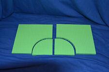 LEGO 2 x Bauplatte hell grün 24x24 mit Rundung 12x12 Viertelkreis 6161 6162