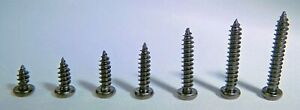 10-Pack of M3 Black Zinc-Plated Carbon Steel Pan Head Self Tapping Screws 6-20mm