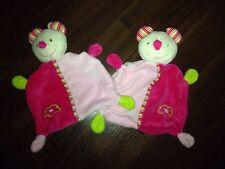 1 Pièces c&a babyclub BABYDREAM Rossman Schmusetuch peluche souris rose chat blanc