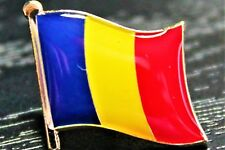 ROMANIA Romanian Metal Flag Lapel Pin Badge *NEW*
