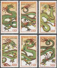 Togo 2000 YO Dragon/Greetings/Fortune/Lunar Zodiac/Animals 6v set (b3813)
