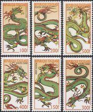 Togo 2000 yo Dragon/saludos/FORTUNA/Lunar Zodiac/animales 6 V Set (b3813)