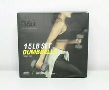 New Flo 360 15LB Set Dumbbells 7.5 Pounds Each (pair) Grey