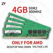 16GB 4x 4GB 2GB 1GB DDR2 2Rx4 PC2-6400 800MHz AMD DIMM Desktop RAM For Hynix Lot