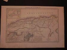 Algeria Alger Algeri Algerie litografia originale 1842 Robiquet Vuillemin carta