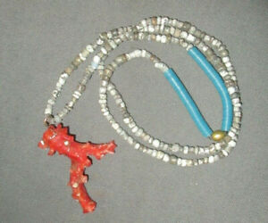 Handmade Necklace Branch Coral Pendant Beads