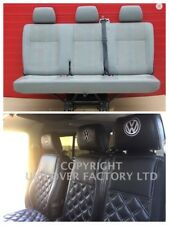 PREMIUM- VW TRANSPORTER T5 TRIPLE BENCH VAN SEAT COVER GREY BENTLEY