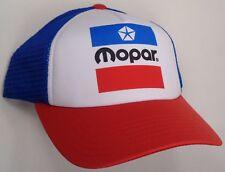Hat Cap Mopar M Logo Trucker  Printed Blue Mesh Dodge Chrysler Plymouth Jeep CF