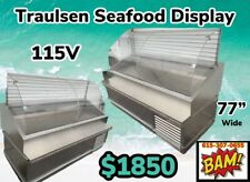 Traulsen Stainless Steel Refrigerated Fish Display Case 77� Wide-115v