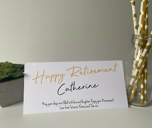 Personalised Congratulations Retirement Wallet Leaving Gift Card