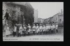 Carte postale ancienne CPA animée AUVERGNE - Les Cornards (Fête à Sauxillanges)