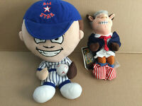 "All Star Baseball Doll Plush 12"" & Famouse Meanies President Bull Clinton  9"""