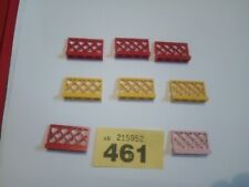 8x LEGO RED PINK YELLOW 3185 LATTICE FENCE 1x4x2  CITY TOWN CREATOR SPARES #461