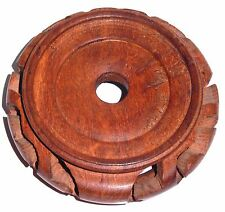 Vintage Chinese Hard Wood Stand Display Base Light Color Wood