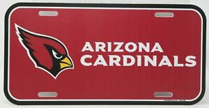 Arizona Cardinals License Plate Logo NFL Football Officially Licensed for Car