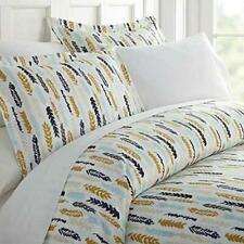 ienjoy Home Ultra Soft Feathers Pattern 3 Pc King Duvet Cover Set Navy $84