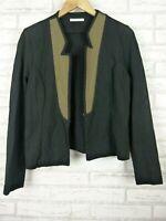 Metalicus soft Tailoring black green jacket blazer size 2, 10