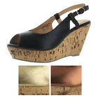 Very Volatile Lady Like Women's Cork Wedge Sandals Shoes