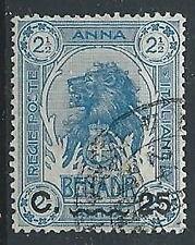 1906-07 SOMALIA USATO LEONE SOPRASTAMPATO 25 CENT - ED612