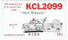 Vintage Police Car Postcard QSL Card Amateur CB Radio SW Canton Ohio Hot Wheels
