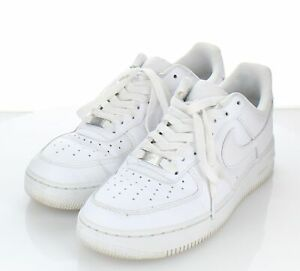 12-25 $120 Men's Sz 9.5 M Nike Air Force 1 '07 Leather Lace-Up Sneakers In White