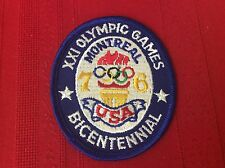 """Olympic games Bicentennial Montreal Usa 76 Patch 3 X 3-1/2"""""""