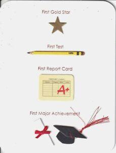 PAPYRUS GRADUATION CARD NIP MSRP $5.95 FIRSTS CARD (J1)