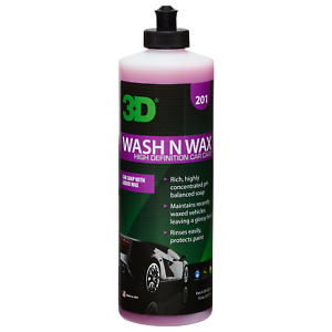 3D 201 Wash And Wax Shampoo Con Cera Schiumogeno Concentrato 500ml