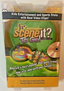 Jr Scene It? To Go The DVD Game Portable Case Travel Kids Trivia Magnetic Pieces