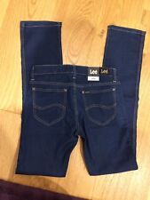 LEE SUPATUBE Womens Leg Jeans Size 12 NEW $140 Tight Dark Denim Straight Skinny