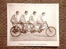 Un velocipede a 4 posti nel 1894 Storia della bicicletta Invenzione