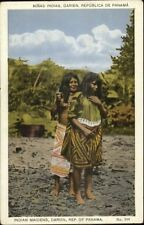 Indian Maidens Darien Panama - Semi-Nude c1920 Postcard