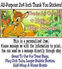 20 Bambi Birthday Party Baby Shower 2x4 All Purpose Thank You Stickers Deer Fawn
